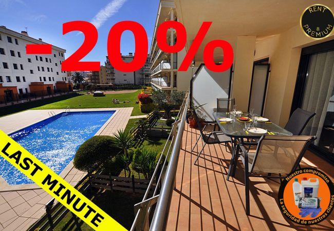 Apartment in Rosas / Roses - 1132 MILENI vista Piscina